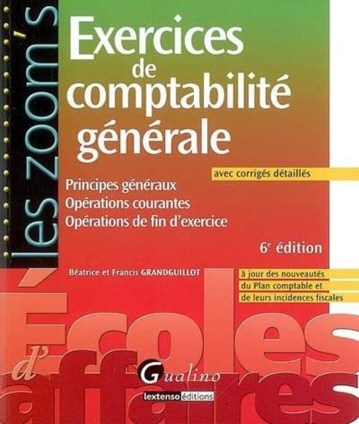Free download program exercices corriges comptabilite - Exercice d enregistrement comptable ...