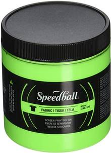 Encre sérigraphie textile Speedball #4690  237ml Vert lime fluo