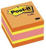 Bloc de feuillets Post-it 2x2 400f jaune,orange,vert,ble2051NC