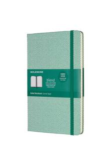 Carnet de notes rigide ligné Moleskine Blend 240p. Large 13x21cm Vert