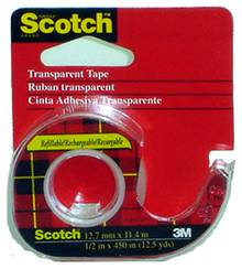 Ruban transparent Scotch 12.7mm x11.4m               106NA